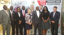 Members of the SDAC and Secretariat with the Hon. Pohamba Shifeta, Minister of Environment and Tourism on 23rd February 2017